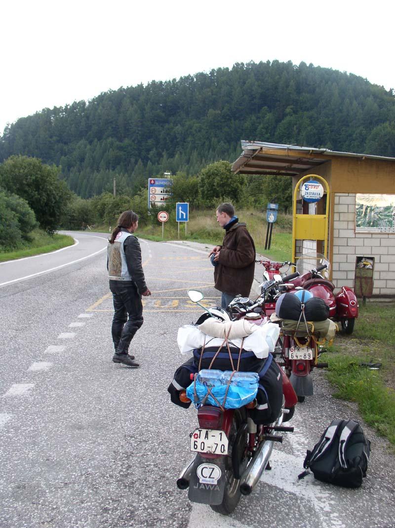 příjezd na Slovenskp
